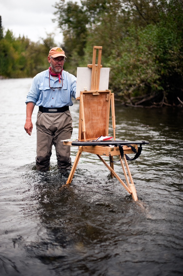 Bob White Painting on the Grant River