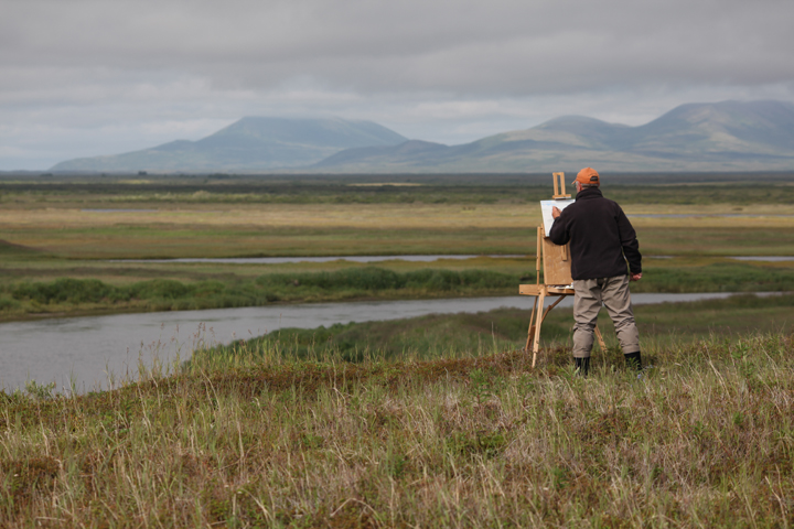 Bob White Painting on the Tundra
