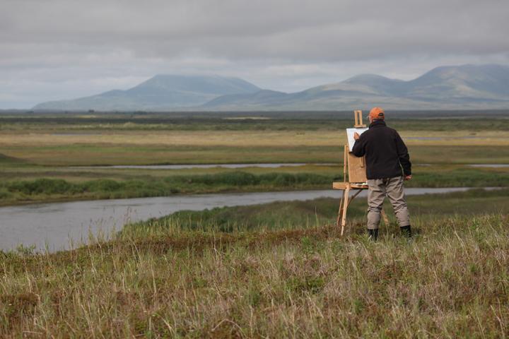 Bob White Painting on the Tundra
