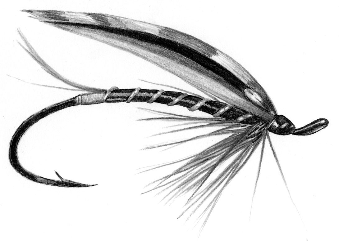 fly fishing drawing - photo #29