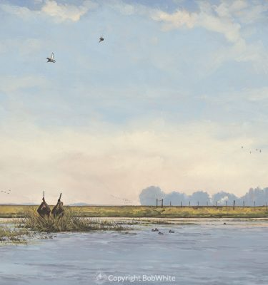 Down Bound - Santa Rita Argentine duck hunting painting