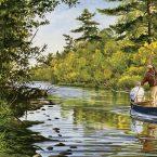 Blue Boat on the Bois Brule