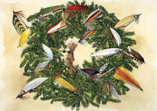 Fly Wreath Holiday Card