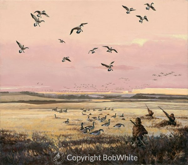 Take Em - Canada Geese Oil Painting
