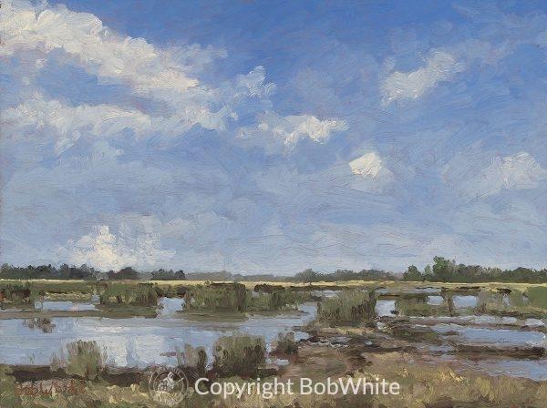 Argentine Marsh - Plein Air Oil Painting