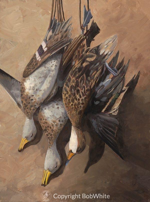 Argentine Still Life Ducks Oil Painting