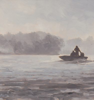 Fifty Shades of Fog Alaska Fishing Painting