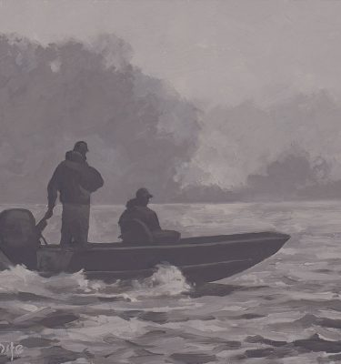 Fifty Shades of Gray Alaska Fishing Painting