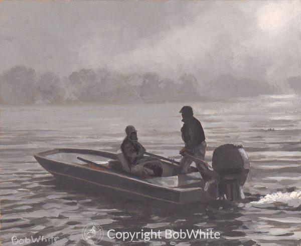 Fifty Shades of Rain Alaska Fishing Painting