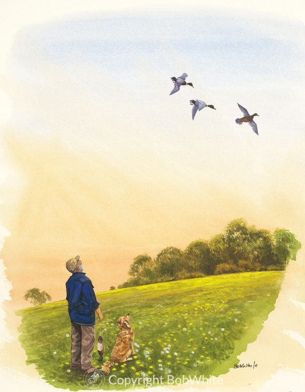 Hope Duck Hunting Golden Retriever Painting