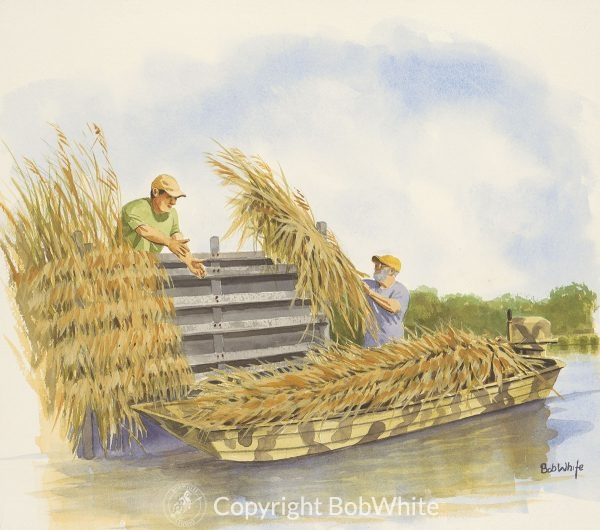Late Summer Chores Duck Hunting Painting