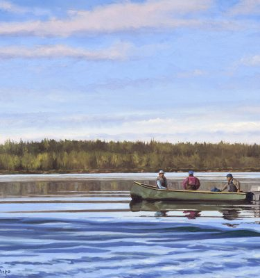 On the Way to Nats Cove Labrador Trout Fishing Painting