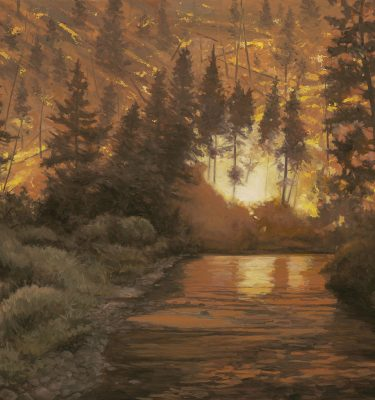 Rebirth Forest Fire Original Oil Painting